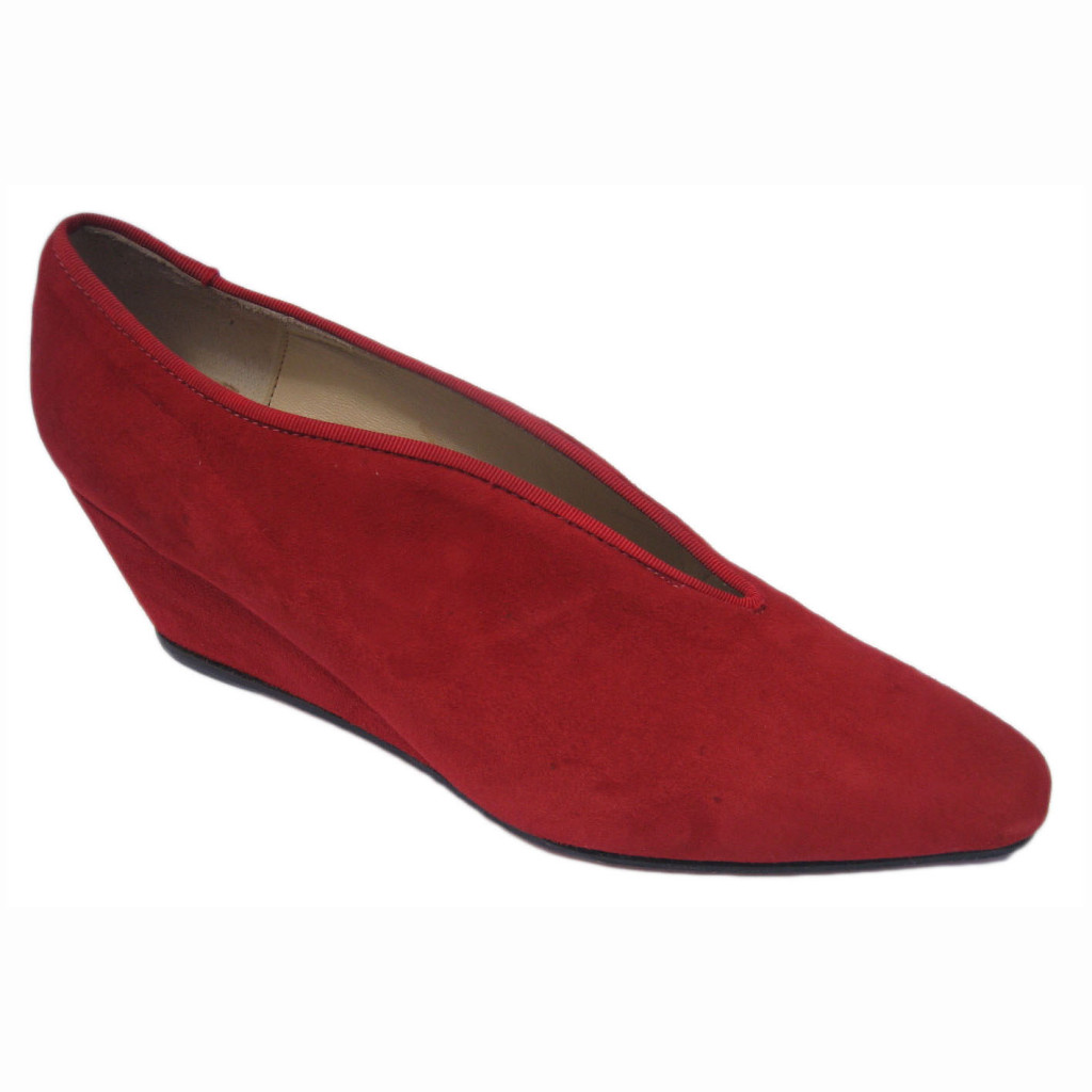 Gail + Wedge Red Suede