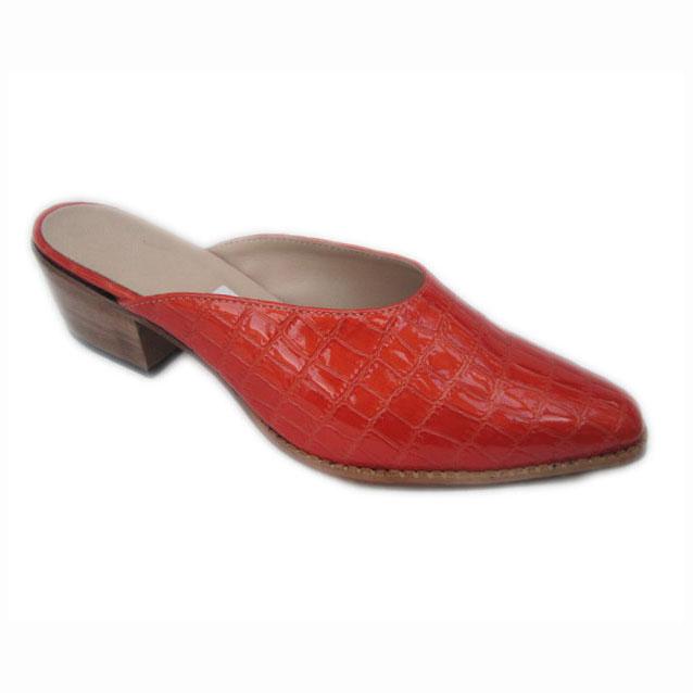 Mule + Cuban Red Gl Croc