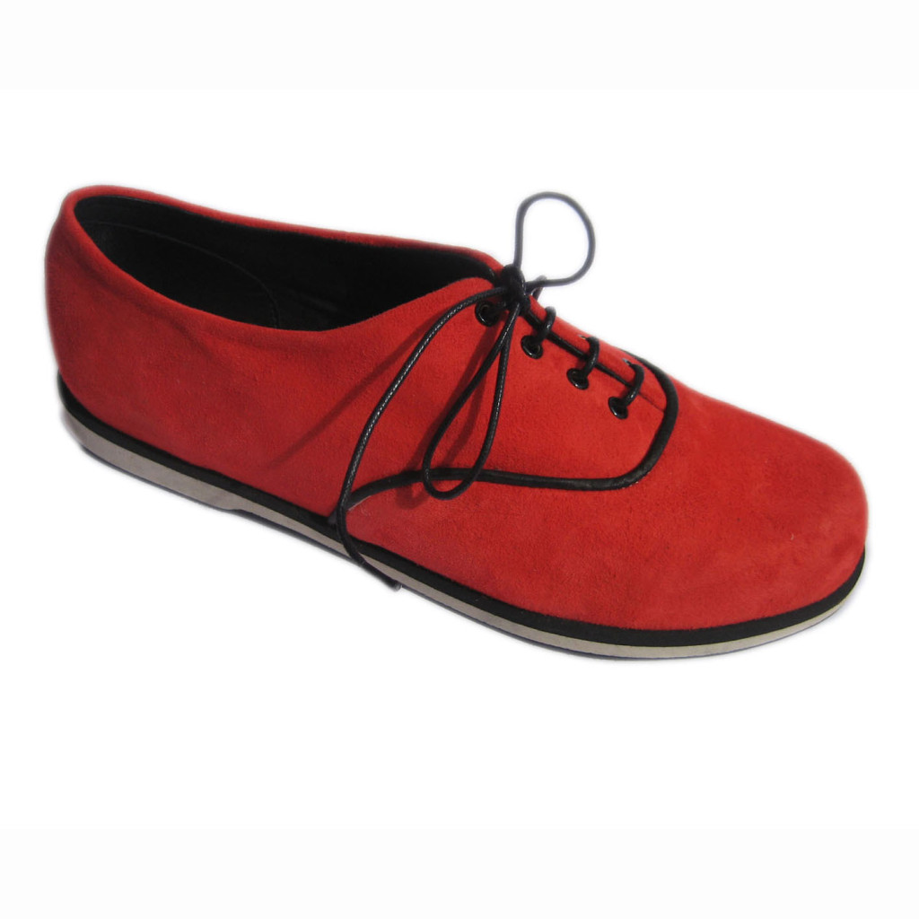 Ronnie + EVA non slip Red Suede Blk Suede + Piping