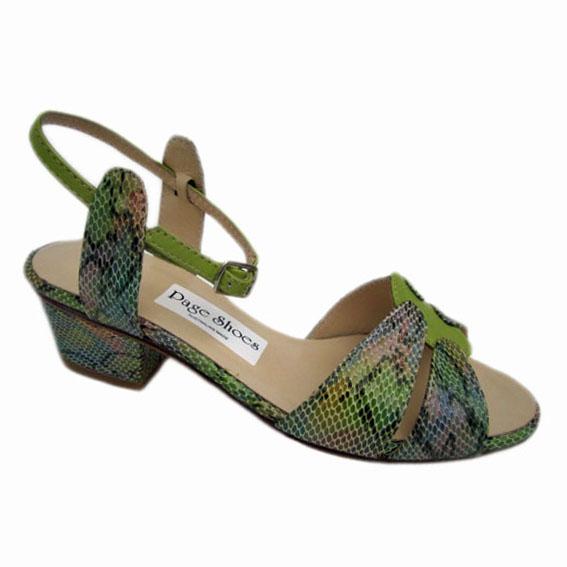 Soleil + Nibia Heel Multi Green Rattler
