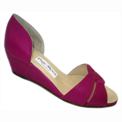 Soliel Hetty + Wedge Hot Pink Calf