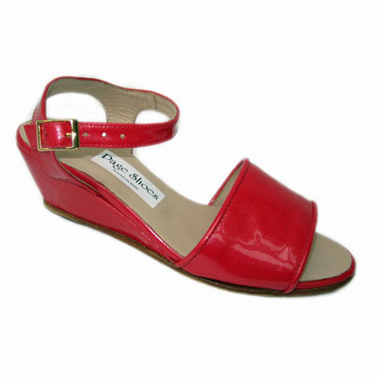 Sunny + Wembley + Wedge Rose Patent + Piping