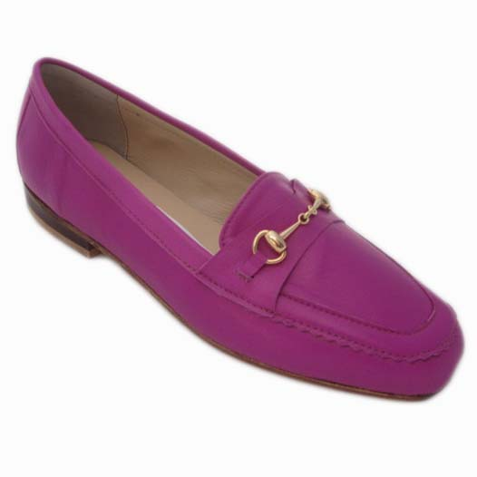Amelia + Carla Bright Pink Calf + Gold Gucci
