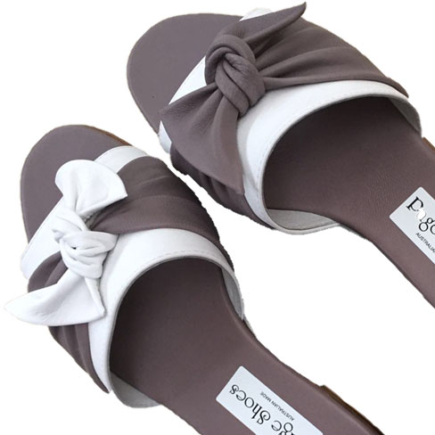 Gabe Toes taupe white sq